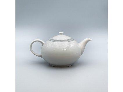 OPAL svatební šedá, Konvice čajová 1 200 ml, krajka, Thun