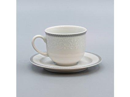 OPAL svatební šedá, Šálek s podšálkem kávový 165 ml, krajka, Thun