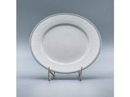 OPAL svatební šedá, Talíř dezertní NINA 19 cm, krajka, Thun