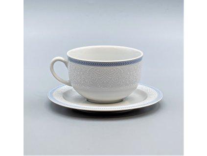 OPAL svatební modrá, Šálek s podšálkem čajový 280 ml, krajka, Thun