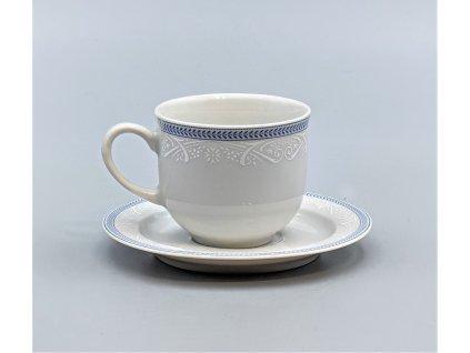 OPAL svatební modrá, Šálek s podšálkem kávový 165 ml, krajka, Thun