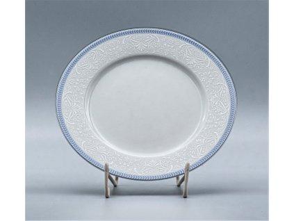 OPAL svatební modrá, Talíř dezertní NINA 19 cm, krajka, Thu