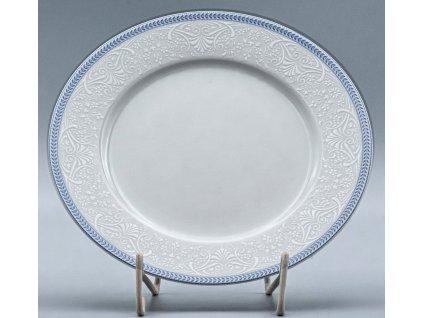 OPAL svatební modrá, Talíř mělký NINA 25 cm, krajka, Thun