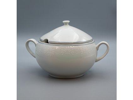 OPAL svatební šedá, Mísa polévkovová 2 800 ml, krajka, Thun