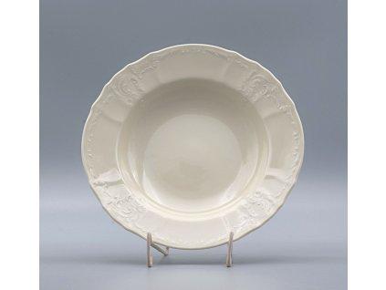 BERNADOTTE, Talíř hluboký 23 cm, Ivory, Thun