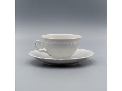BERNADOTTE, Šálek s podšálkem čajový 205 ml, bílá, Thun