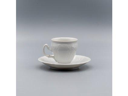 BERNADOTTE, Šálek s podšálkem espresso 90 ml, bílá, Thun