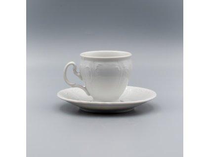 BERNADOTTE, Šálek s podšálkem  kávový 170 ml, bílá, Thun