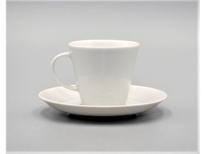TOM, Šálek s podšálkem kávový 200 ml, bílá, Thun