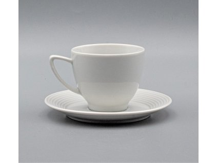 LEA, Šálek s podšálkem espresso 90ml, bílá, Thun