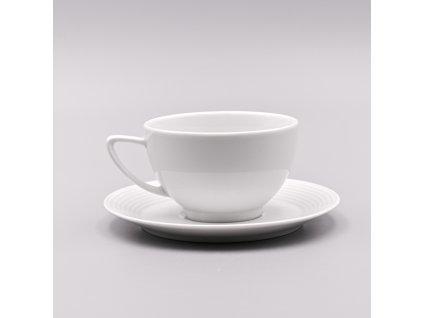 LEA, Šálek s podšálkem čajový 240 ml, bílá, Thun