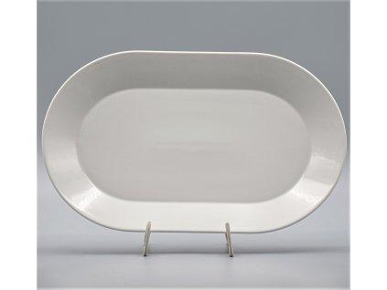 TOM PR, Mísa oválná 38 cm, bílá, Thun, základ LEA bez proužků