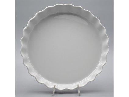 Zapékací mísa kulatá koláčová 26 cm, bílá, Thun