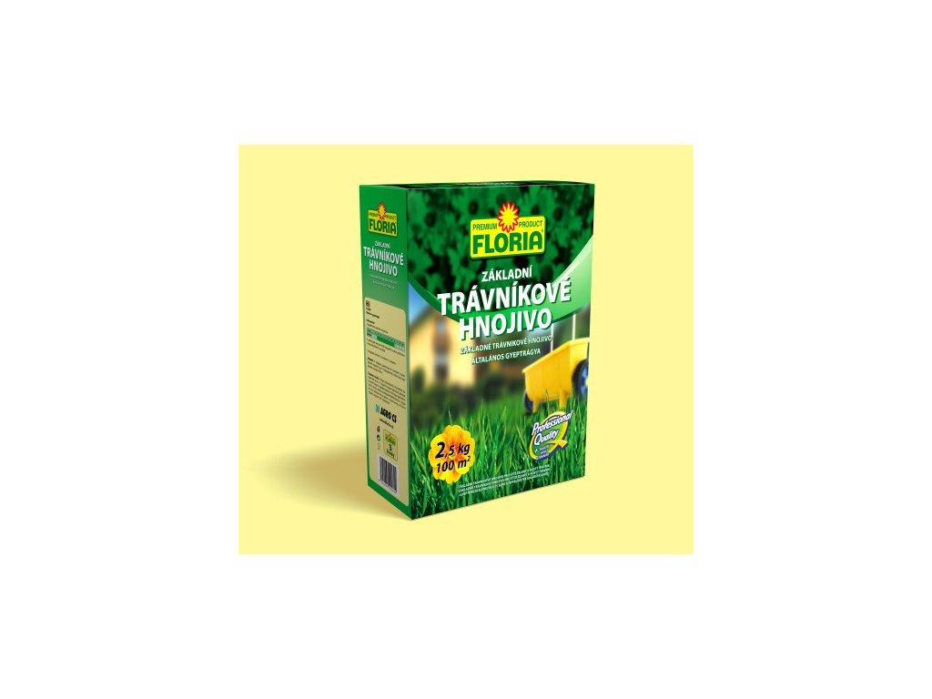 Základní trávníkové hnojivo 2,5 kg  Trávníkové hnojivo ZÁKLADNÍ + hořčík
