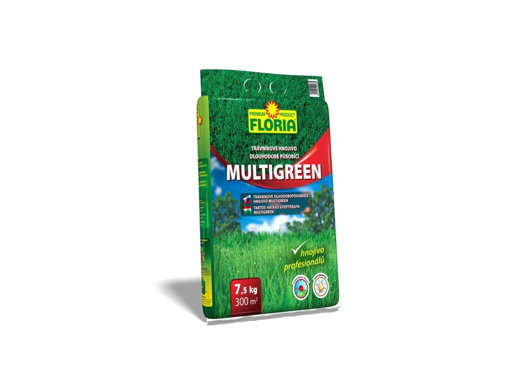 Dlouhodobě působící trávníkové hnojivo MULTIGREEN 7,5 kg  Trávníkové hnojivo dlouhodobě působící MULTIGREEN