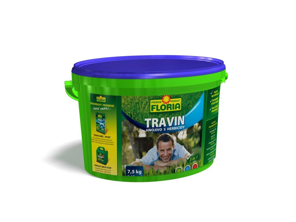 Trávníkové hnojivo s herbicidy TRAVIN 8 kg  TRAVIN - Trávníkové hnojivo s HERBICIDY