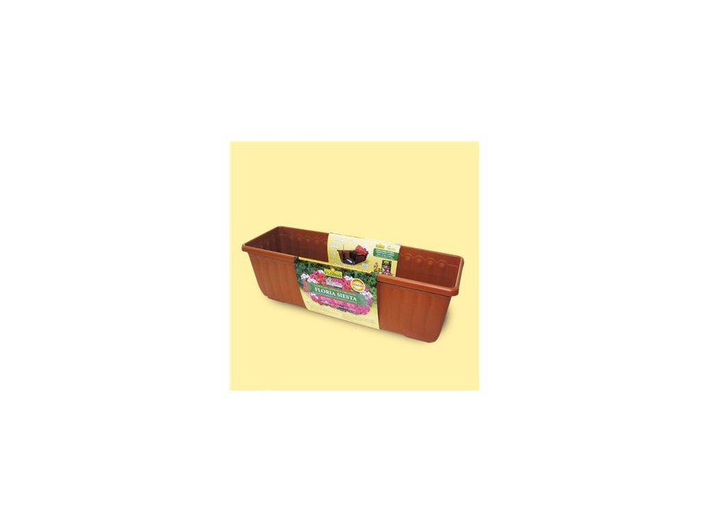 Samozavlažovací truhlík 80 cm Agro FLORIA SIESTA - antracit  Agro FLORIA SIESTA - samozavlažovací květináč antracit 80 cm