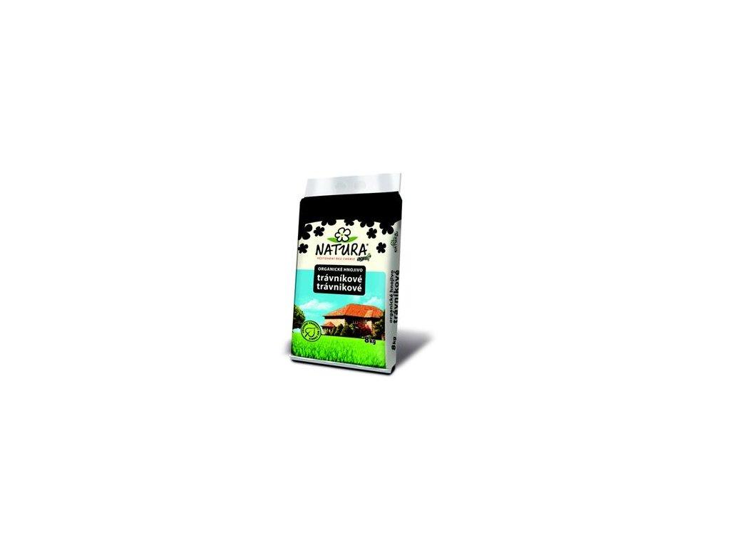 NATURA Přírodní organické TRÁVNÍKOVÉ HNOJIVO 8 kg  Přírodní hnojivo pro trávníky Natura