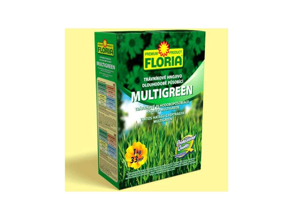 Dlouhodobě působící trávníkové hnojivo MULTIGREEN 1 kg  Trávníkové hnojivo dlouhodobě působící MULTIGREEN