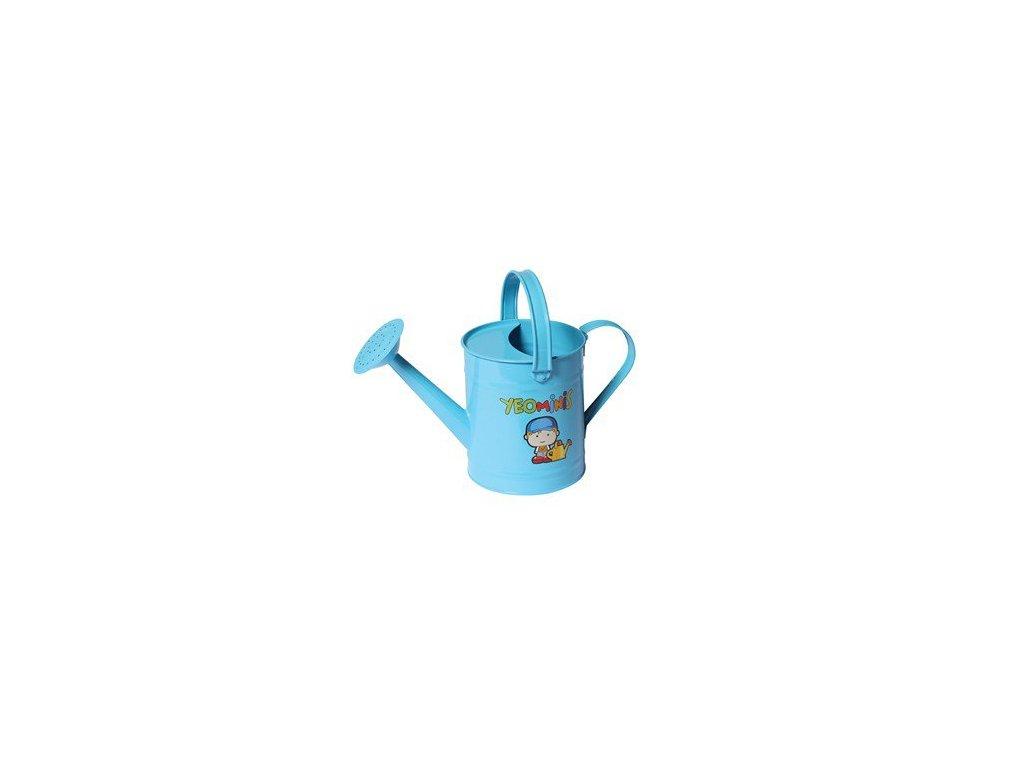 Dětská kovová konvička s motivem chlapečka  Dětská zahradní konev s kropítkem
