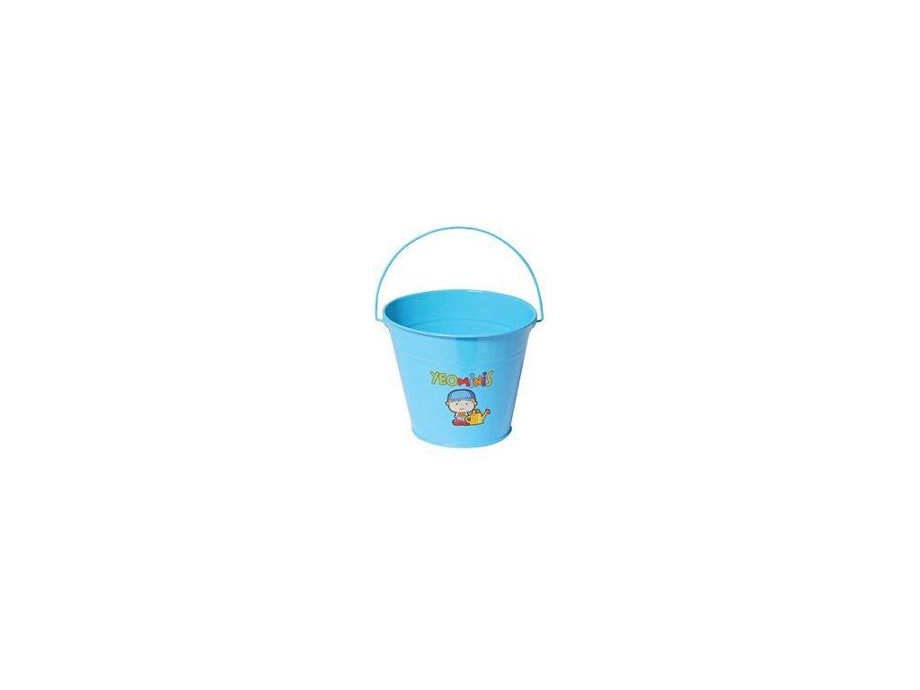 Dětský kovový kyblíček chlapeček  Dětský kovový kyblík na zahradu či pískoviště