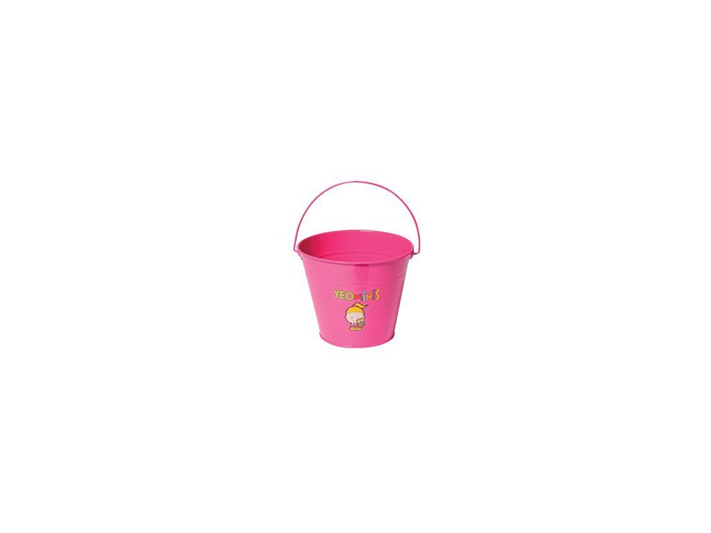 Dětský kovový kyblíček holčička  Dětský kyblík kyblík na zahradu či pískoviště