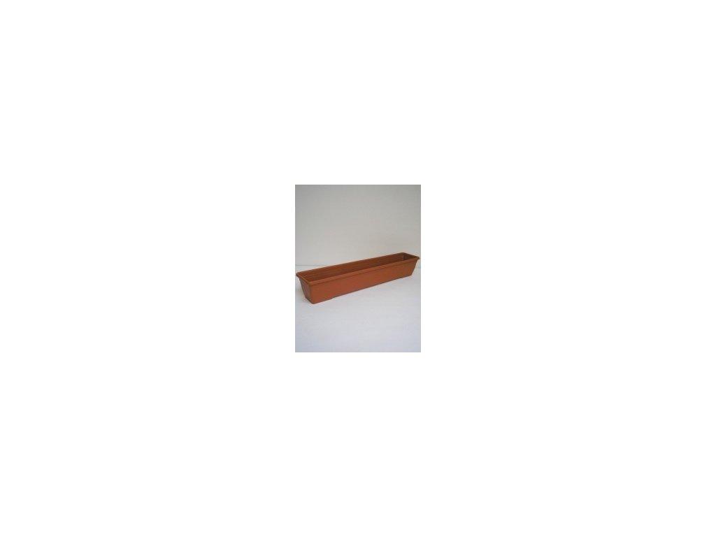 Truhlík IRIS - terracota 100 cm  Truhlík plastový IRIS 100 cm