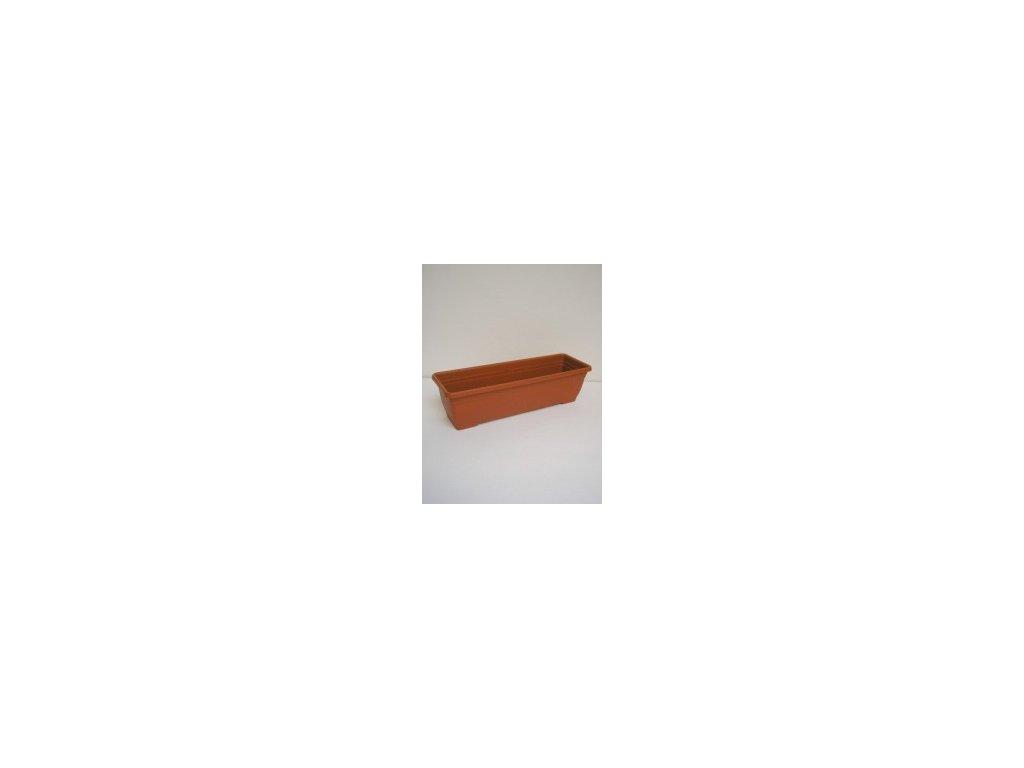 Truhlík IRIS - terracota 60 cm  Truhlík plastový IRIS 60 cm