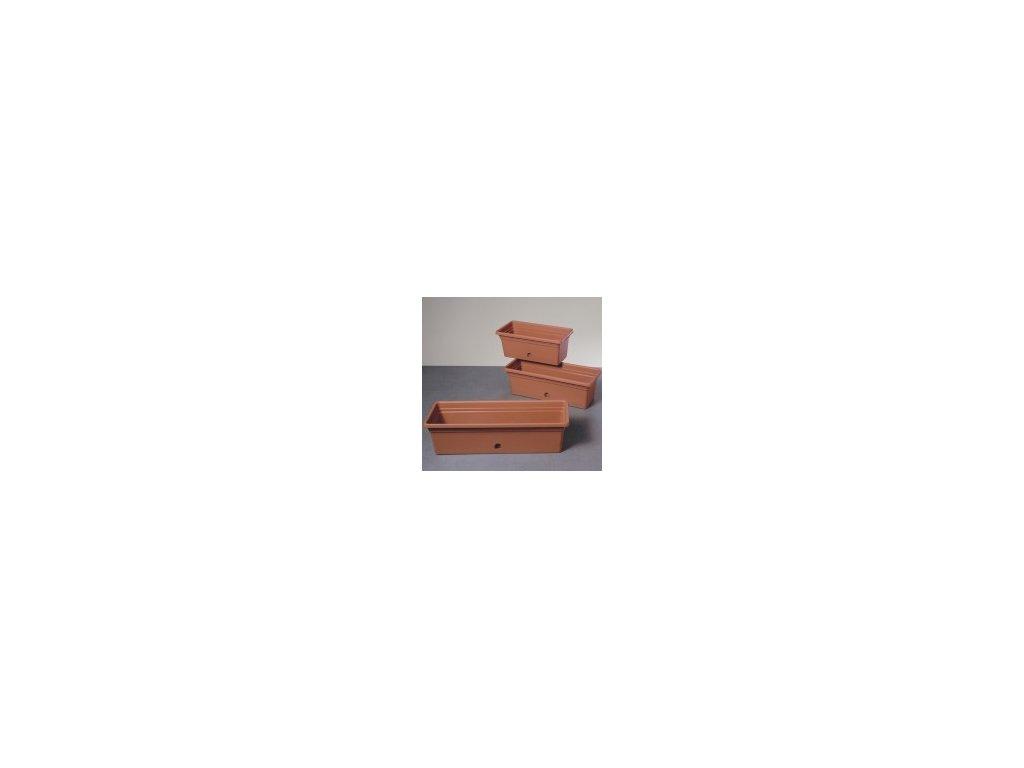 Truhlík MELISSA - terracota 60 cm  Truhlík plastový MELISSA 60 cm