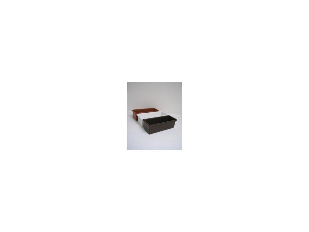 Truhlík hladký (bílý, hnědý, terracota) 40 cm  Truhlík hladký