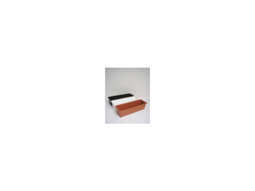 Truhlík hladký (bílý, hnědý, terracota) 50 cm  Truhlík hladký