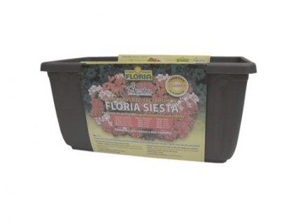 Samozavlažovací truhlík 40 cm Agro FLORIA SIESTA - antracit  Agro FLORIA SIESTA - samozavlažovací květináč antracit 40 cm
