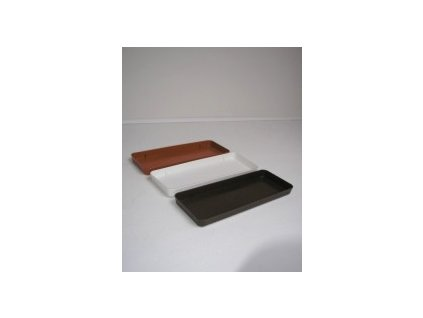 Miska pod truhlík (bílá, hnědá, terracota) 40 cm  Miska pod truhlík