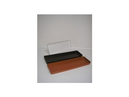 Miska pod truhlík (bílá, hnědá, terracota) 50 cm  Miska pod truhlík
