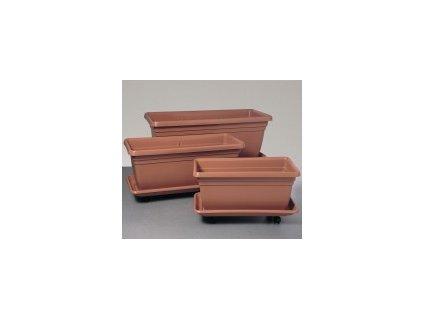 Truhlík na dřeviny DAPHNE - terracota 80 cm  DAPHNE 80 cm truhlík na dřeviny