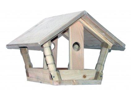 Dřevěné krmítko pro ptáky I.  Krmítko pro ptáky I.