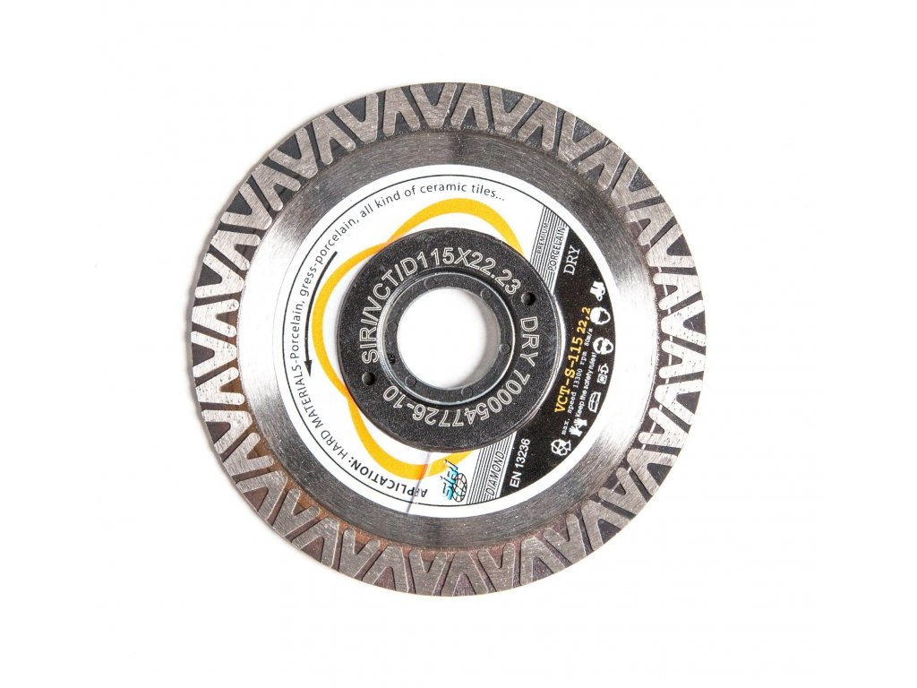 SIRI Dia kotouč Turbo Gres Ultra, rychlý čistý tenký řez - průměr 115 mm