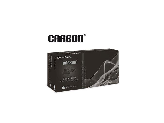 Nitrilové rukavice Cranberry Carbon, 200ks v balení