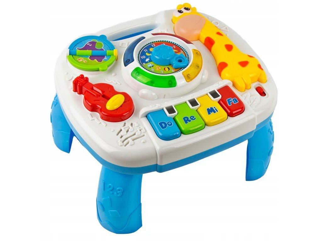 Doris edukační stoleček s piankem a zvuky 2v1