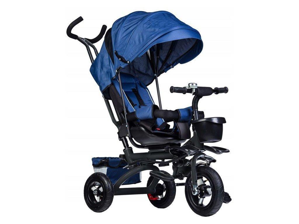 Ecotoys dětská tříkolka s otočným sedadlem Rotage modrá - nafukovací kola