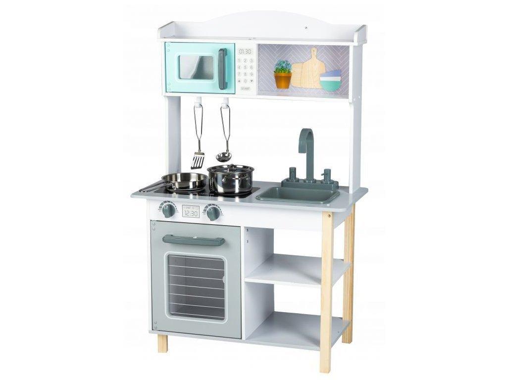 Ecotoys dětská dřevěná kuchyňka s příšlušenstvím