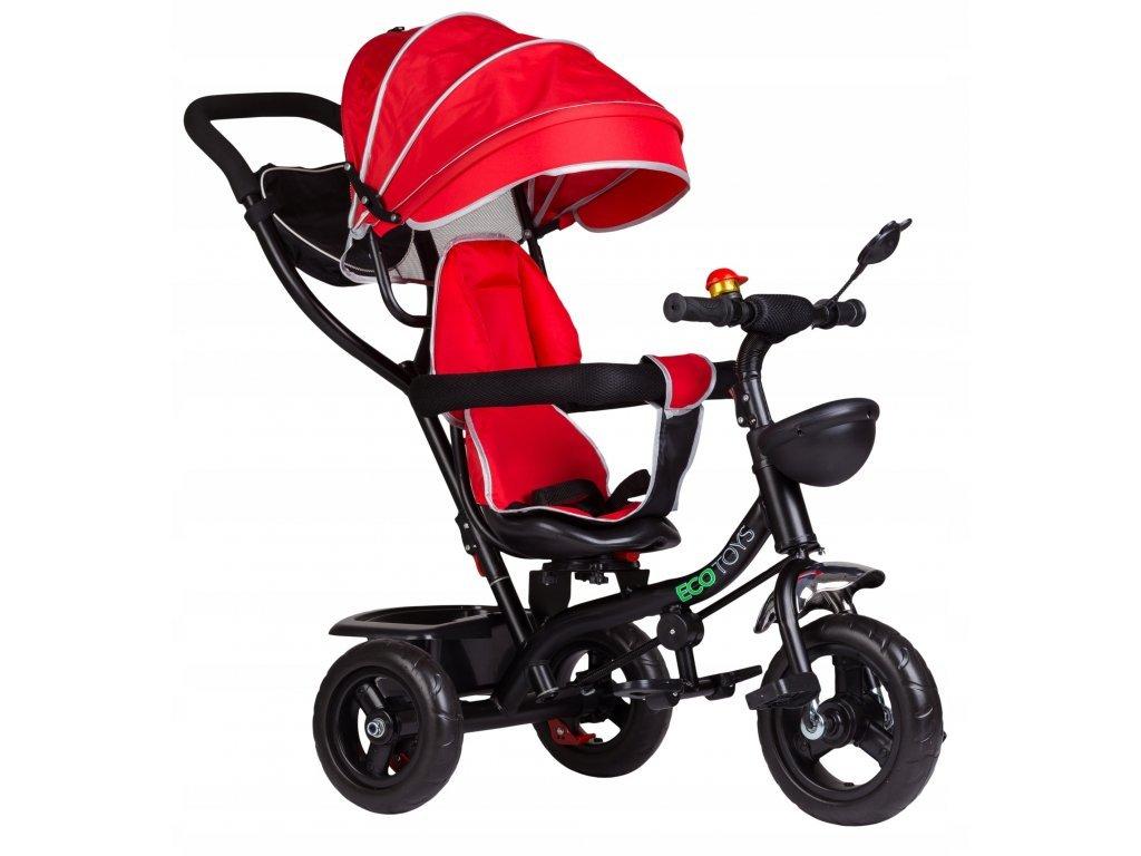 Ecotoys dětská tříkolka s otočným sedadlem 2v1 červená