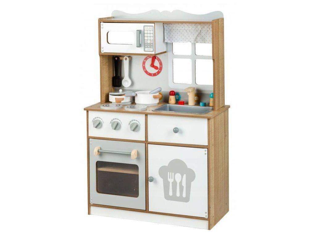 Ecotoys dětská dřevěná kuchyňka s oknem