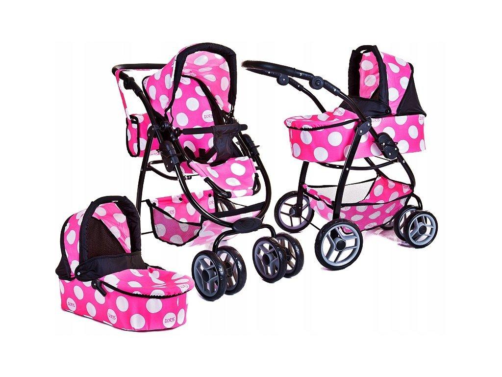 Doris velký sportovní kočárek pro panenky 3v1 - 9662 Minnie