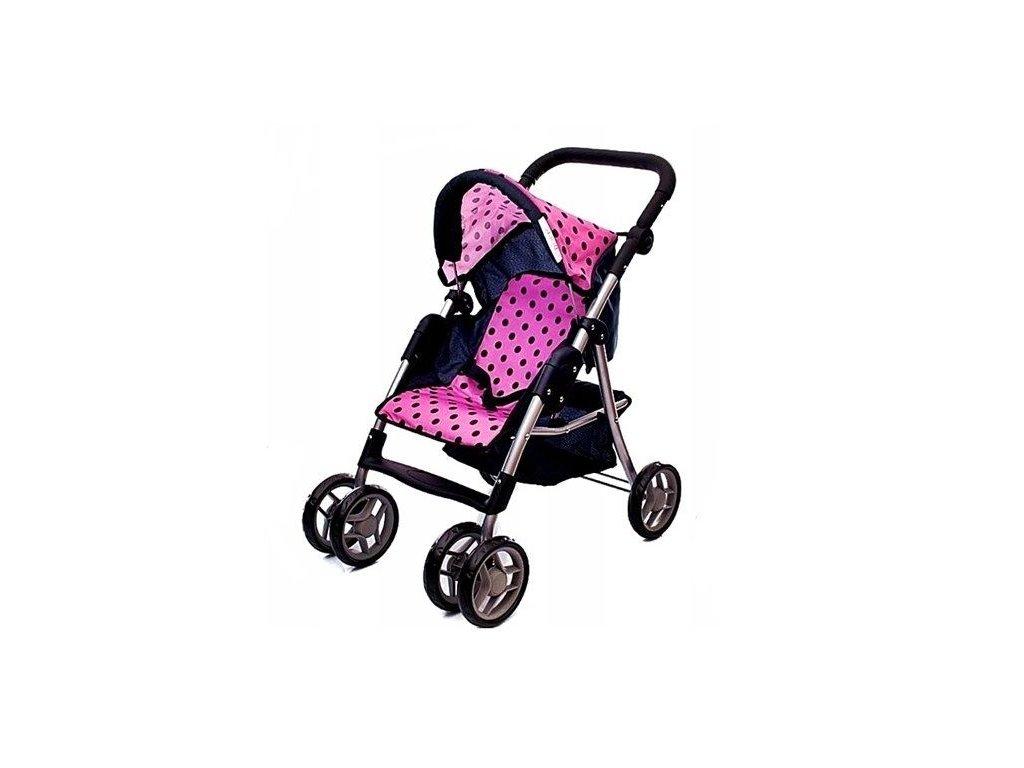 Doris sportovní kočárek pro panenku 9352 růžový
