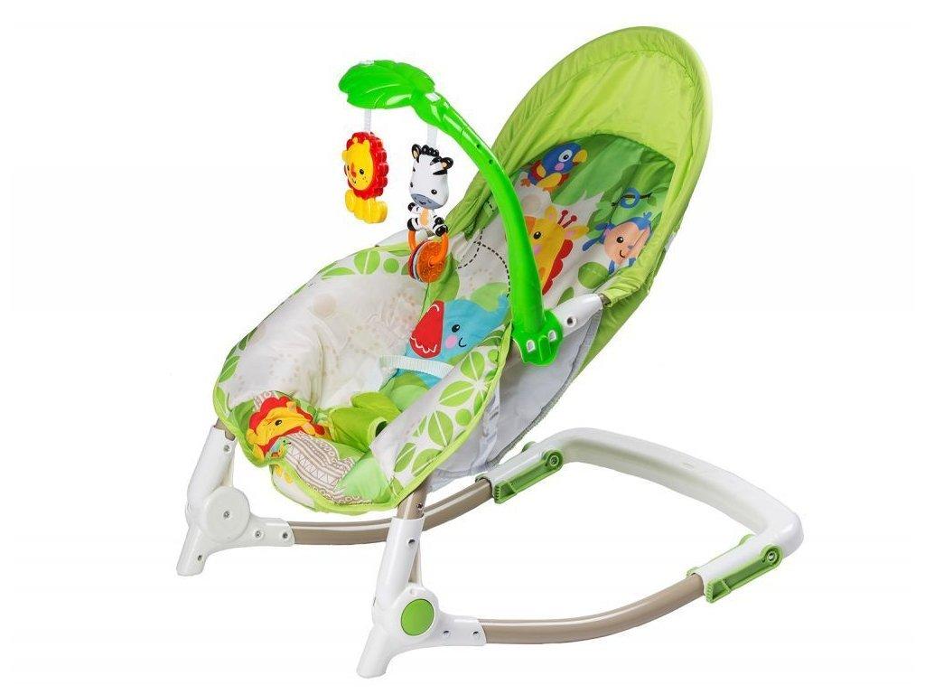 Ecotoys kojenecké lehátko 3v1 s vibracemi a hudbou Animal 4