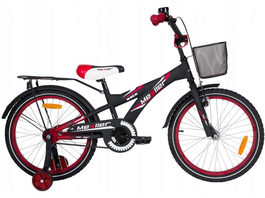 """Mexller dětské kolo BMX 20"""" černočervená"""