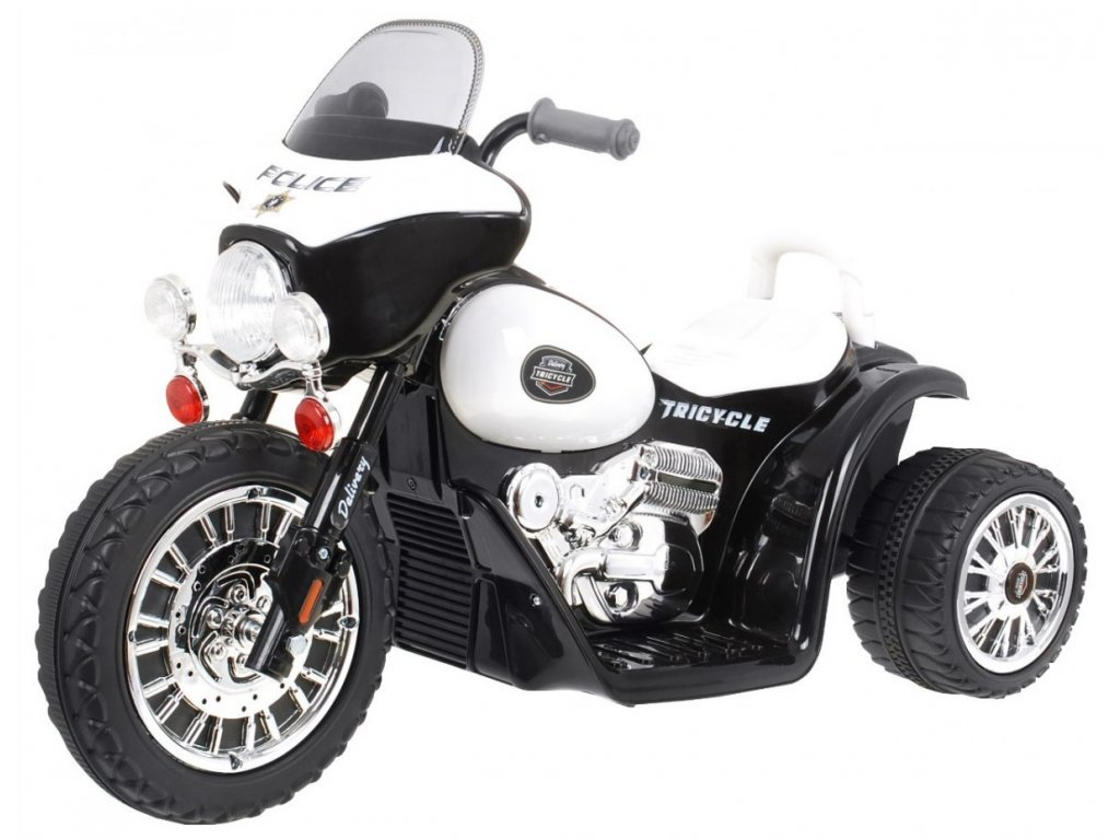 Dětská elektrická tříkolka Chopper bílá