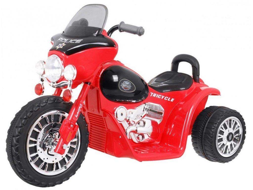 Dětská elektrická tříkolka Chopper červená