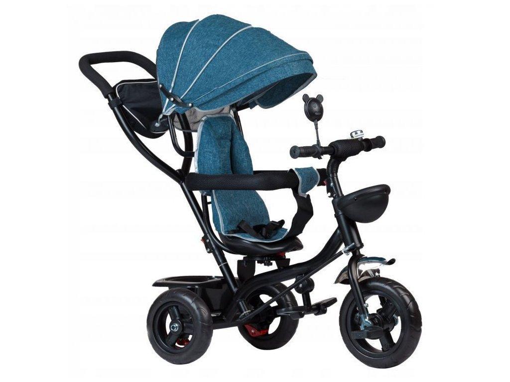 Ecotoys dětská tříkolka s otočným sedadlem 2v1 modrozelená